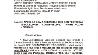 Documento encaminhado ao MAPA